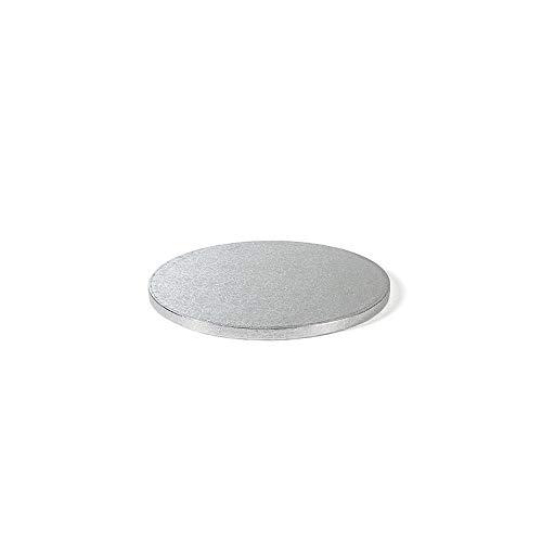 Decora 0931618 Sottotorta Tondo, Cartone, Argento, 2 X H 1.2 cm