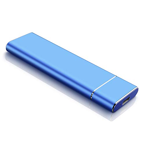 Disco Duro Externo 2tb Type C USB 3.1 Disco Duro Externo para PC, Mac, MacBook, Chromebook, Xbox (2tb, Azul)