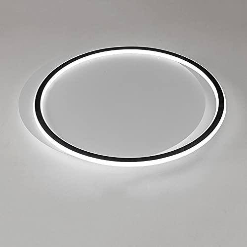 LPFWSK Luz de techo ultrafina redonda de estilo minimalista ajustable 3000K-6000K Luces de decoración de interiores Montaje empotrado Accesorios de iluminación para el hogar Lámpara de techo de dormit