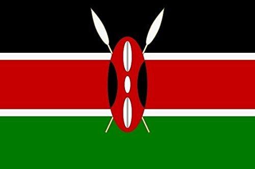 U24 Aufkleber Kenia Flagge Fahne 8 x 5 cm Autoaufkleber Sticker