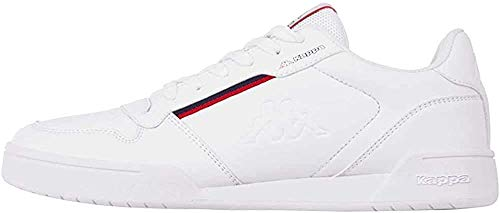 Kappa Marabu, Zapatillas Unisex Adulto, White Red 1020, 45 EU