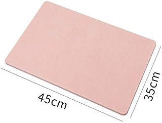 Anti-Slip Diatom Bathroom Bath Mat Japanese Design Diatomaceous Bath Mat for Fast Water Drying, Self-Refreshing Hard Showe...