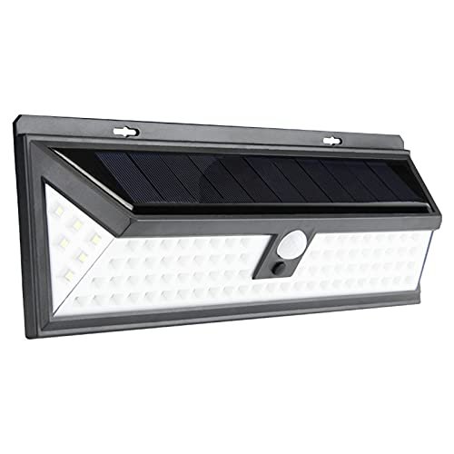 qwert Sensor De Movimiento Lámpara De Pared,IP65 Impermeable Focos,Led Lámpara Solar,3 Modos Luces De Seguridad,Floodlight para Garden Decoración,90led