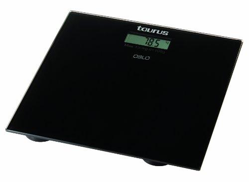 Taurus Oslo, digital, Negro, 300 x 300 x 30 mm, CR2032 - Báscula de cocina