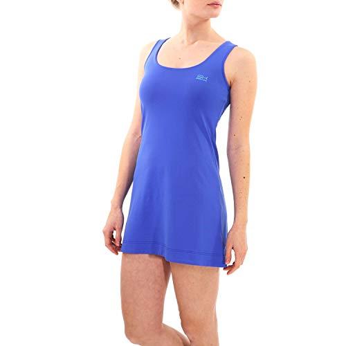 Sportkind Mädchen & Damen Tennis, Hockey, Golf Trägerkleid, UV-Schutz UPF 50+, Kobaltblau, Gr. S