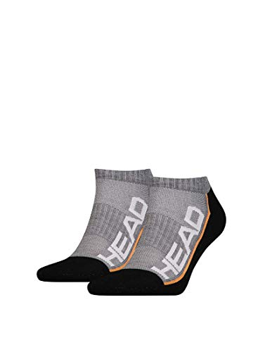 HEAD Performance Sneaker 2p Chaussettes, Grey/Black, 43/46 Mixte