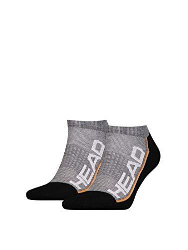 HEAD Unisex Performance Sneaker 2p Socken, Grey/Black, 43/46