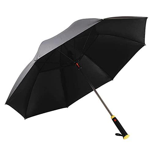 WWWL Paraguas Paraguas automático con Ventilador USB Recargable Extra Extra Extremo A Prueba de Viento A Prueba de Agua Paraguas de Palillos Negro Recubrimiento (Color : Black)