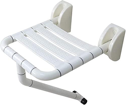Fällande badsäte för äldre, glidande badrumstol med ben, lysande funktionshindrade platser dusch huvudplats |Max.200kgs / 31