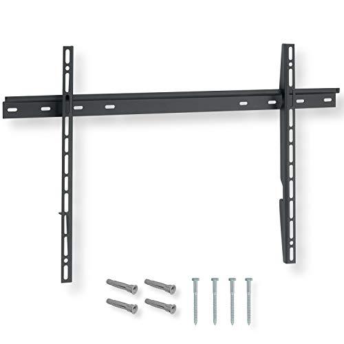 NANOOK Supporto a muro per TV 40-80 pollici | Staffa ultra sottile | Soluzione di montaggio per televisori LCD, LED e OLED | Compatibilità universale | VESA 100x100 - 600x400 | Nero