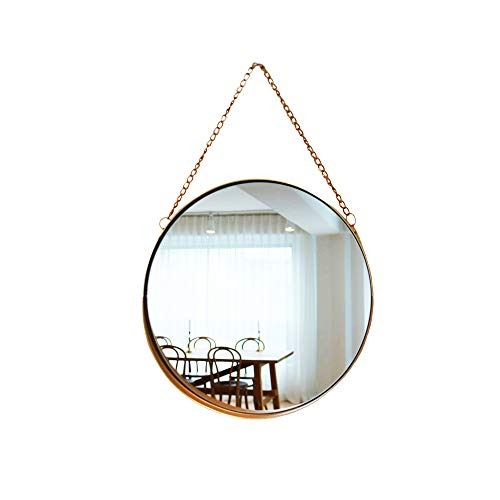 April box–Decorative Hanging Wall Mirror – Small Vintage Mirror for Wall  10 Inch Gold Metallic Frame Mirror – Premium Quality Material Wall Mirrors –Easy Mounting –Ideal for BathroomHome Decor