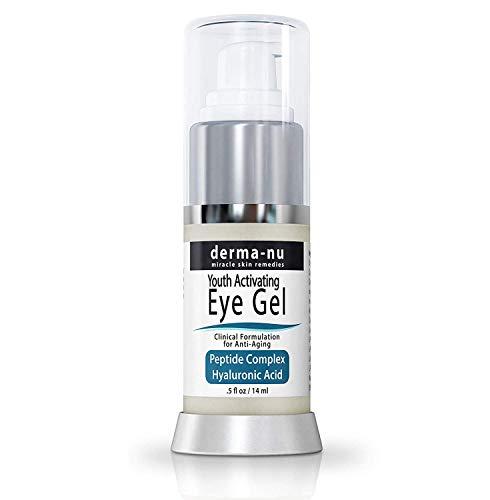 Derma-nu - Crema antienvejecimiento para ojeras, hinchazón y arrugas - Fórmula de colágeno - ácido hialurónico y aminoácidos - .5oz