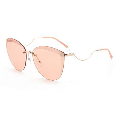 WSDSX Gafas de sol deportivas polarizadas Gafas de sol polarizadas para exteriores Gafas con montura de metal irregular sin marco UV400, para viajes, pesca, correr, E