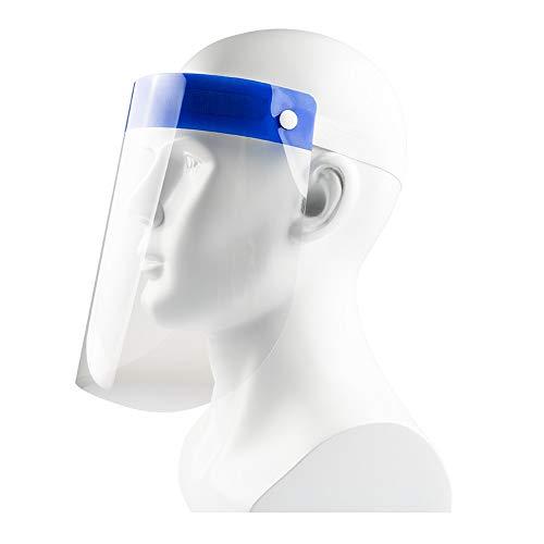 Mascarilla protectora de cara completa, reutilizable, transparente, máscara protectora contra la lluvia, la niebla y el aceite, adecuado tanto para hombres como para mujeres