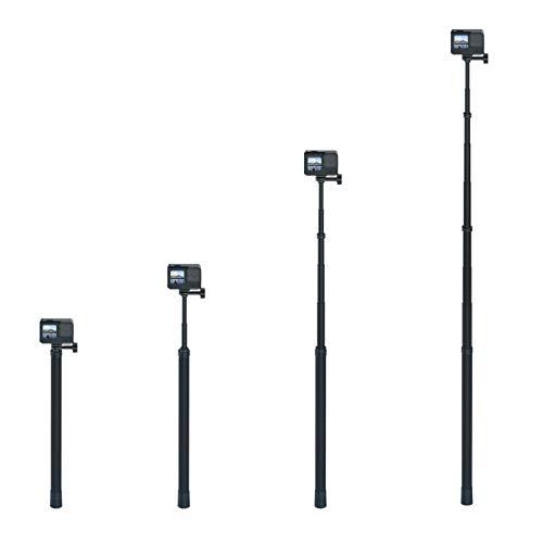 enSkate Ultra Long 3 M/118 pulgadas Selfie Stick monopié ultraligero de fibra de carbono, trípode extensible, adaptador 1/4 extraíble, para GoPro Hero 10, Hero 9, Osmo Action, Insta360 One X2