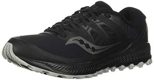 Saucony Men's Peregrine ICE+ Trail Running Shoe, Black, 9