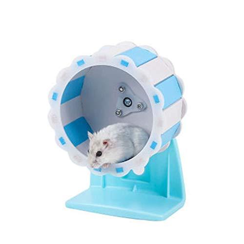 Rueda de Corriente de Hamster Hamster Wheel Toy Silent Ejercicio Diámetro Jaula Rueda De Rueda Para Hamster Entertainment Stay Rueda de corredor de hámster silencioso ( Color : Azul , Size : 13cm )