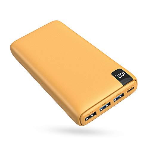 A ADDTOP Batería Externa 26800mAh, Power Bank USB C con PD 18W Cargador Portátil Carga Rápida con Pantalla LCD y 4 Outputs para Smartphones, Tablets y más (Black)