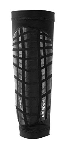 uhlsport Carbon TEC Schienbeinschoner, schwarz/Silber, L