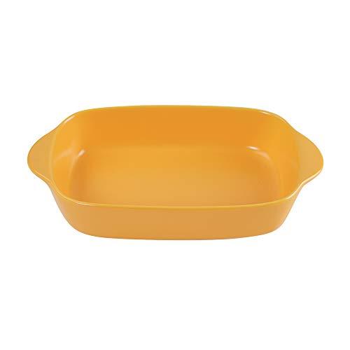 Amarillo Cerámica Bandejas Horno Rectangular para Horno y microondas. Aptas para Nevera y Congelador