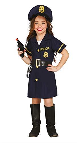 Guirca Costume poliziotta agente carnevale bambina 8570_ 7-9 anni