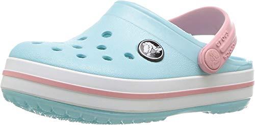 Crocs Crocband Clog Kids, Unisex-Kinder Clogs, Blau (Ice Blue/white), 24/25