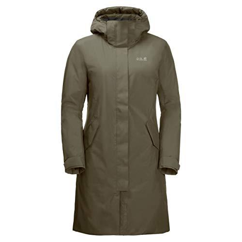 Jack Wolfskin Damen Cold Bay Coat Mantel, Granit, L