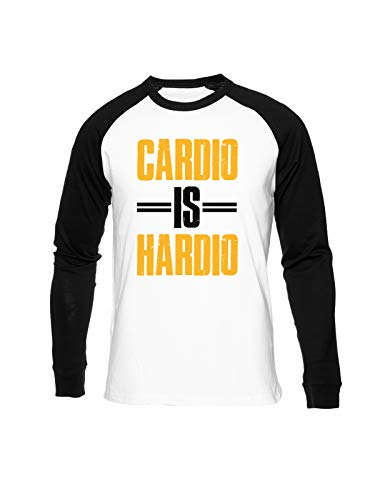 Fioze Cardio Is Hardio Camiseta Béisbol Unisex Cuello Redondo Baseball Unisex T-Shirt