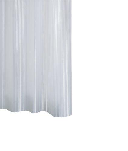 RIDDER 47151-350 Duschvorhang Textil ca. 120 x 200 cm, Satin weiß inklusive Ringe