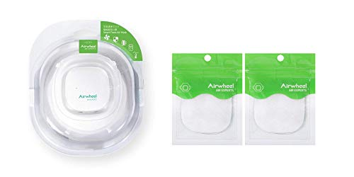Airwheel Smart Fresh Air Mask F3 + Additional Filter Pack (2) - Reusable and Breathable - Replaceable Filter - Smart Electric Anti Fog Air Purification Respirator - Ideal for Indoor, Outdoor