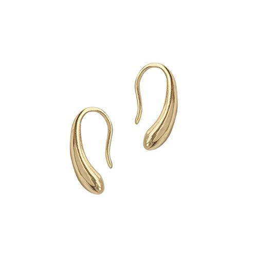 MURUI EH INS personalidad pequeñas gotas de agua y pendientes, rollos geométricos simples para las orejas, orejas pequeñas yc715 (color foto)