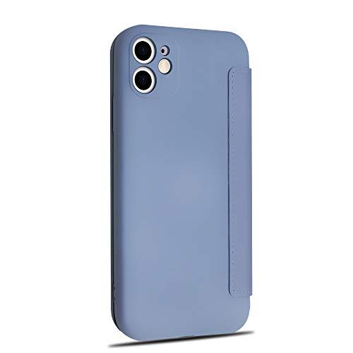 Rdyi6ba8 - Funda Compatible con iPhone 12 Mini, Funda Piel iPhone 12 Mini Carcasa de Móvil Silicona Líquida Suave Bumper, Ranura para Tarjeta, para iPhone 12 Mini, Gris