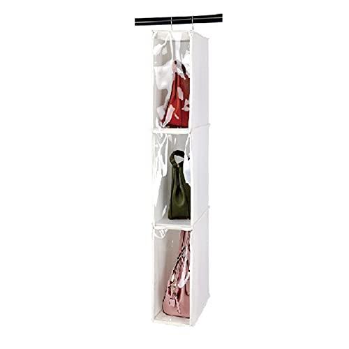 Honton - Sacchetti trasparenti da appendere, completamente racchiusi, per armadio, antipolvere, multifunzione, colore: bianco