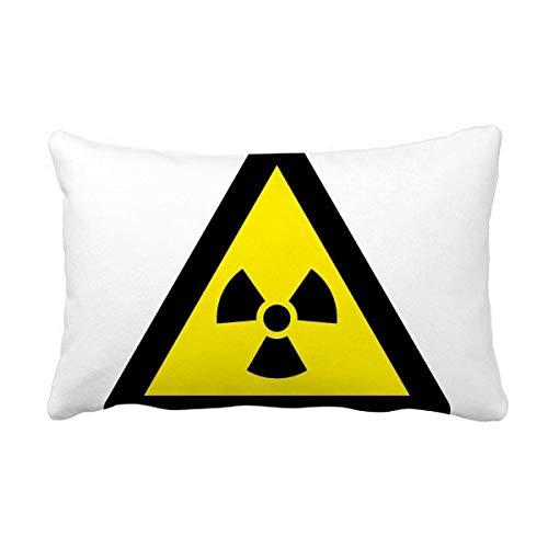 DIYthinker Símbolo de Aviso Negro Amarillo ionización radiación Triángulo Banda Almohada Lumbar Inserte la Cubierta del Amortiguador Inicio Sofá Regalo de la decoración