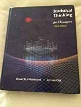 Statistical Thinking for Managers (Duxbury Series in Statistics and Decision Sciences)