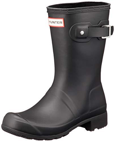 HUNTER Original Tour Short Packable Rain Boots Black 11 M