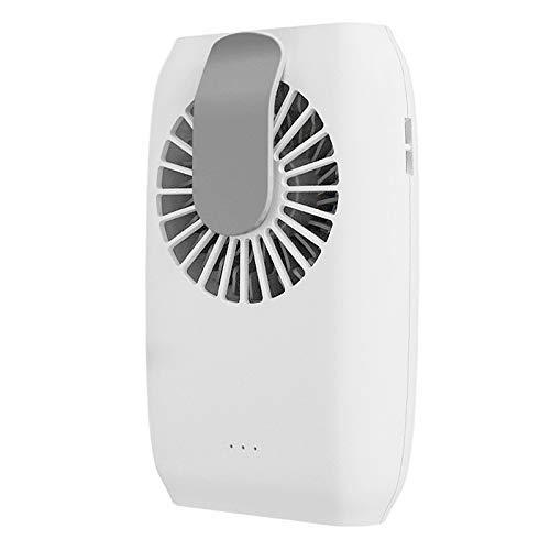 Nologo SHM-MM USB Ventilator Fan Hängen Taille hängenden Hals Hand Ventilator-beweglicher Fan Faule Fan (weiß)