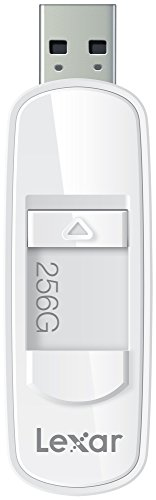 Lexar JumpDrive S75 - Memoria USB 3.0 de 256 GB, color blanco