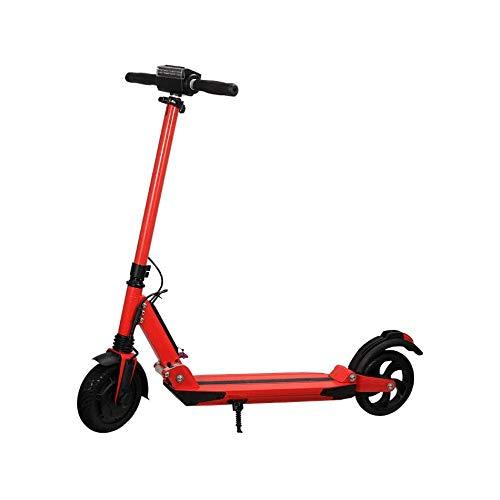 WAWZNN Monopattino Elettrico Pieghevole per Adulto Mini Hoverboard Scooter, velocità Massima 15 km/h, Carico 200 kg, Massima Resistenza 30KM, Regolabile in Altezza, per Adulti e Adolescenti,Rosso