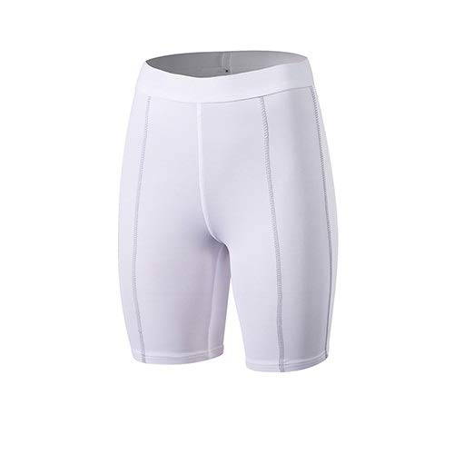 No-Branded WZGGZWGG Yoga Shorts Fitness Engen Sport Workout Shorts for Frauen Compression Gym Shorts Laufhose (Color : Weiß, Size : M)