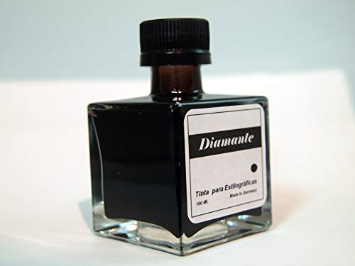 Tinta para estilográficas Tintero de cristal + cánula adaptable Capacidad 100ml de tinta Contenido: tintero con 100ml de tinta + cánula
