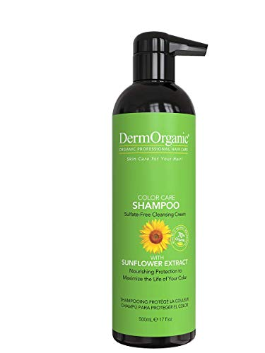 DermOrganic Color Care Shampoo with Sunflower Anti-Fade Extract -...