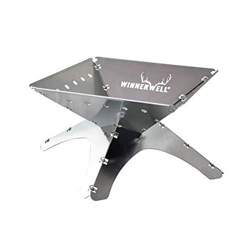 Winnerwell Flatfold Feuerstelle - Medium   Portable Edelstahl Feuer Pan