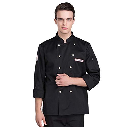 Dooxii Unisex Herren und Damen Herbst Winter Langarm Kochjacke Mode Kuchen Backen Küche Hotel Uniform Berufsbekleidung