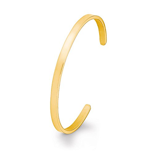s.Oliver Armreif für Damen aus Edelstahl IP Gold, gravierbar