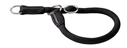HUNTER Freestyle Dressurhalsung, Hundehalsband, Zugstopper, robust, wetterfest, 45 (M), schwarz