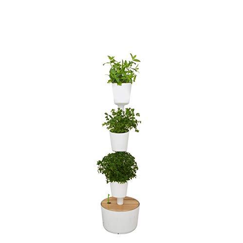 Orto urbano con auto-irrigazione smart, bianco, 3 vasi