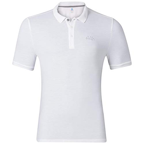Odlo Polo Trim Polo Outdoor Homme White FR : S (Taille Fabricant : S)