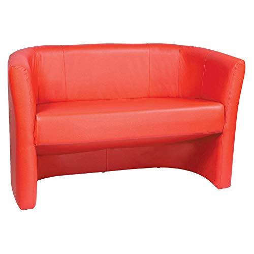 Europrimo Divano divanetto Due posti Moderno in Ecopelle Rosso Rossa Modello Duke