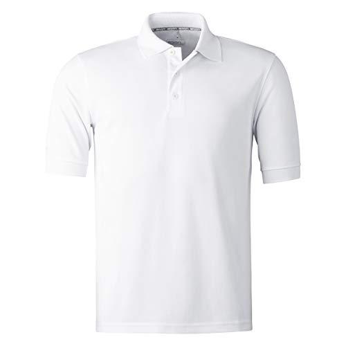 agon Herren Pique Polo-Shirt - Kurzarm-Hemd für Männer mit Knopfleiste, bügelfrei und atmungsaktiv, für Sport und Business, Made in EU Reinweiß 56/2XL